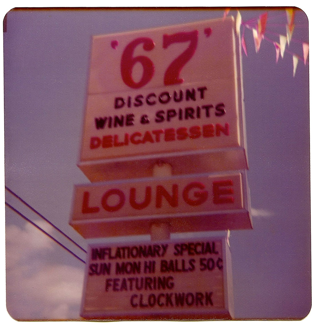 67 Lounge sign