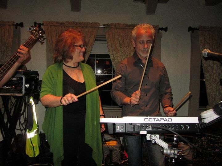 Lina and Carlos during the Clockwork performance at the 94th Aero Squadron in Miami Florida on March 16, 2012