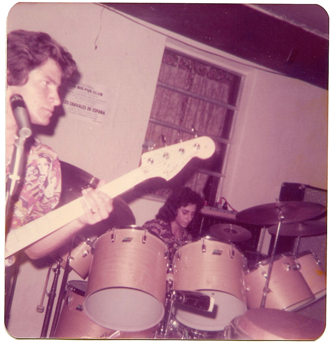 Alex Cobos and Carlos Segura at The Big-5 Club on March 30, 1975