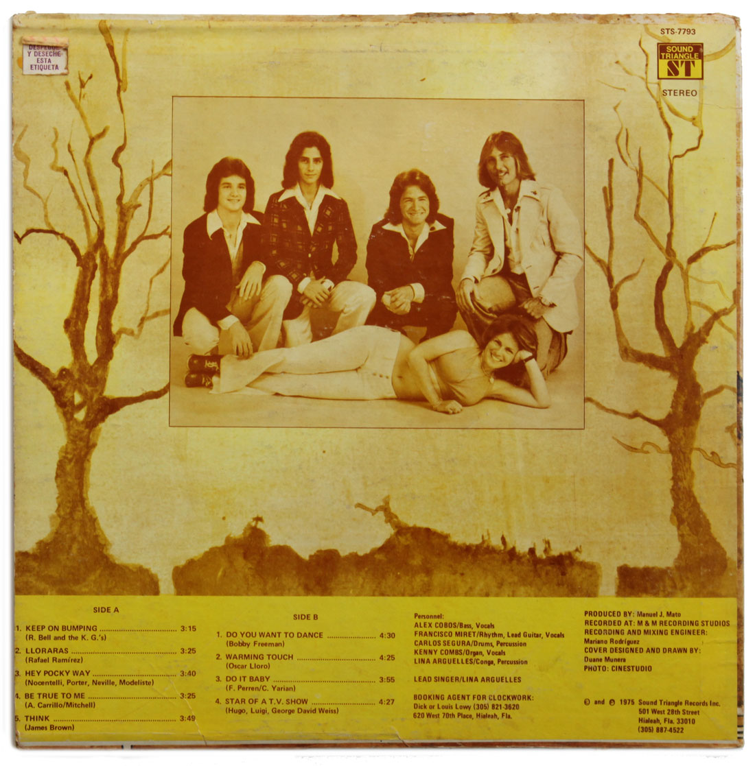 The first Clockwork album (back cover) 1975