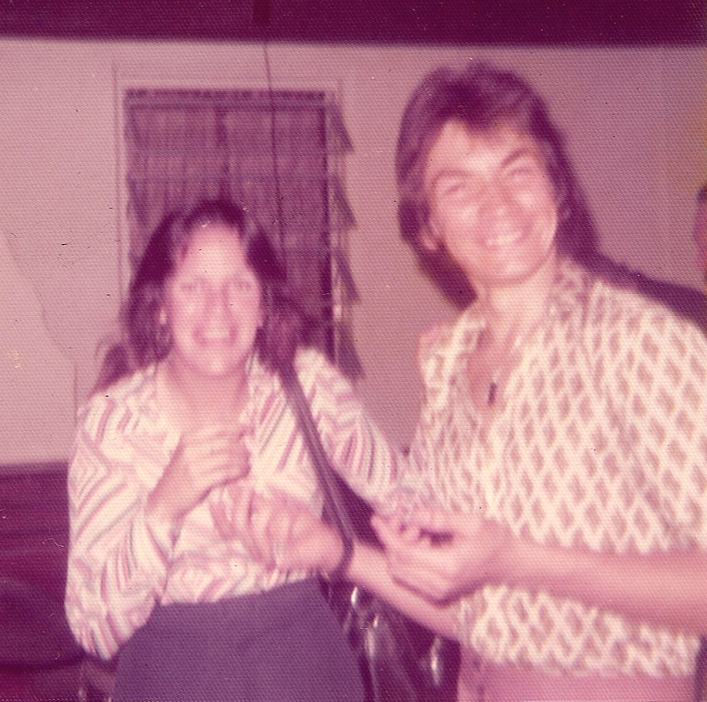 Duane Munera and friend at the Big 5 Club on March 30, 1975