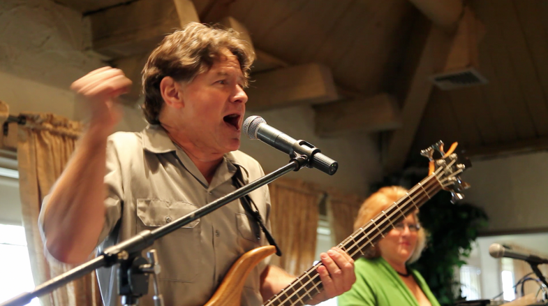 Alex and Lina during the Clockwork performance at the 94th Aero Squadron in Miami Florida on March 16, 2012