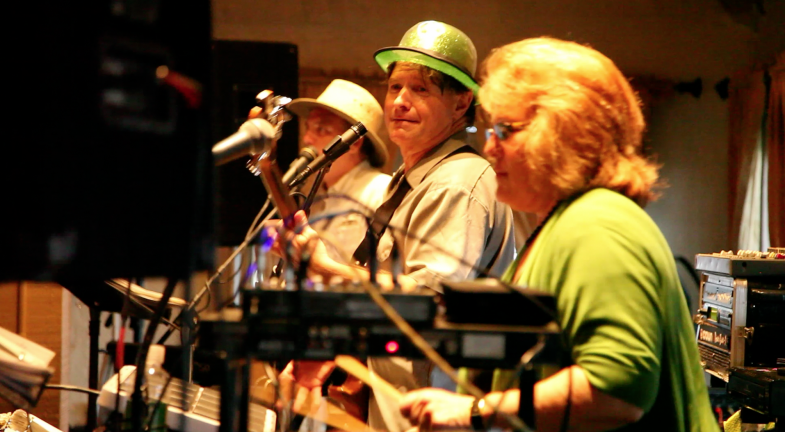 Alfredo, Alex and Lina during the Clockwork performance at the 94th Aero Squadron in Miami Florida on March 16, 2012