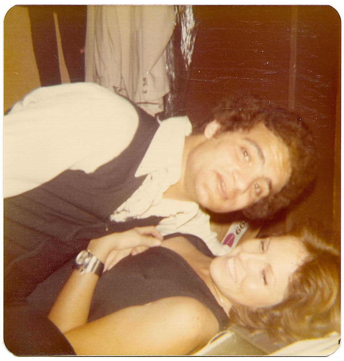 Alfredo Perez and Lina Argulelles backstage at Mr. Pip's.