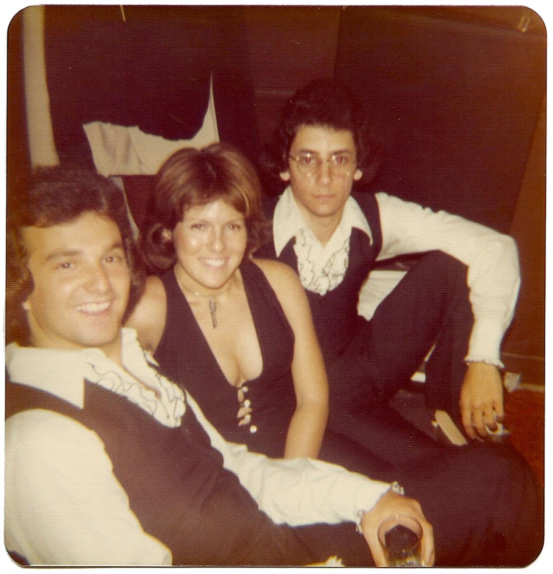 Frank Miret, Lina Arguelles and Carlos Segura backstage at Mr. Pip's.