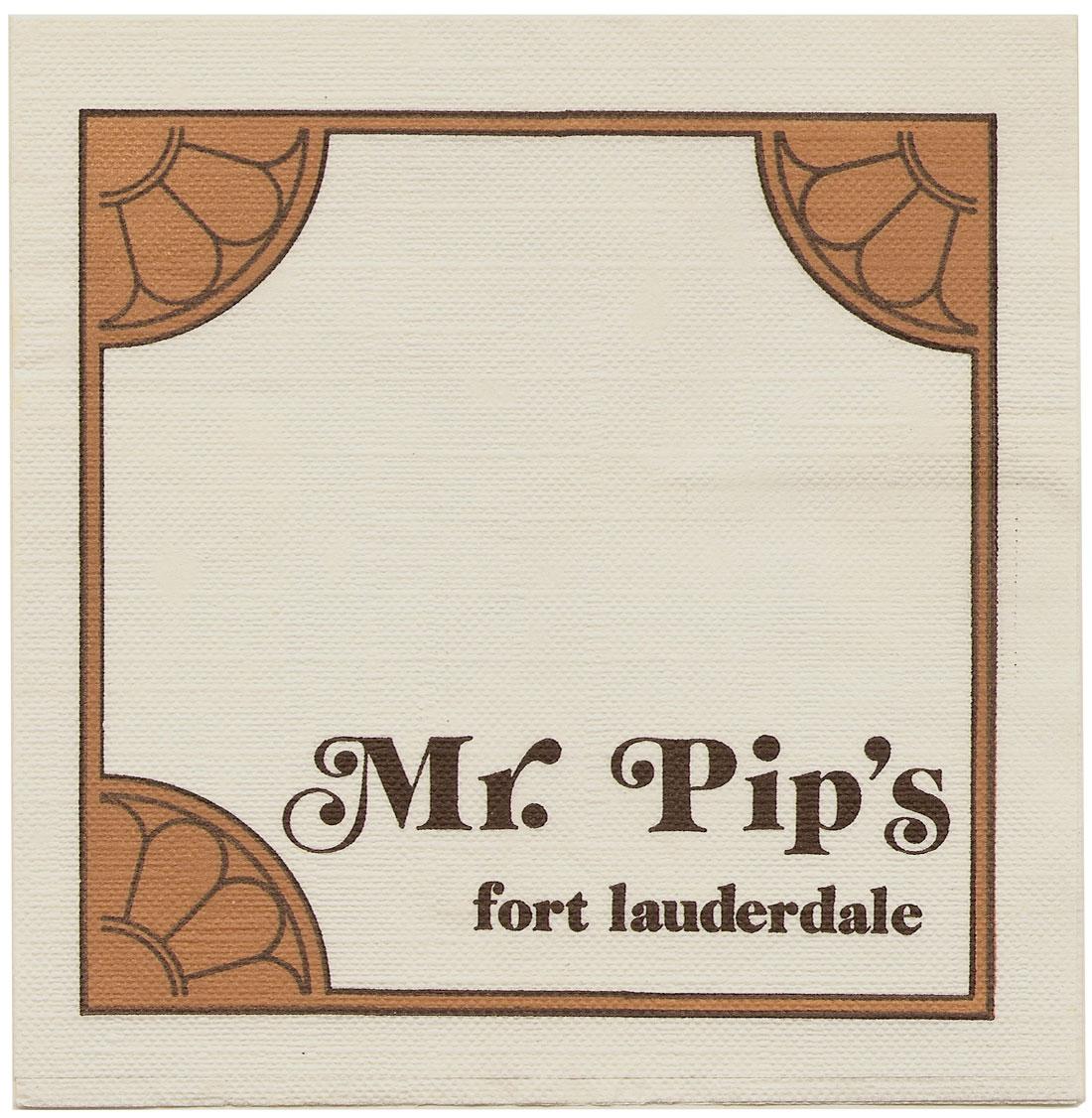 Mr. Pip's napkin.