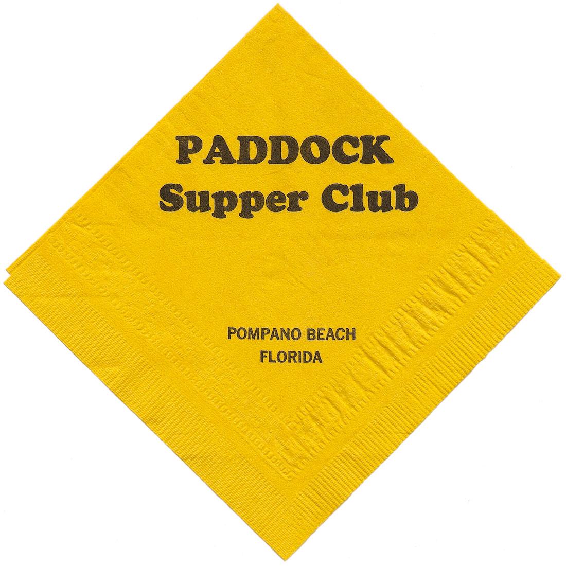 Paddock napkin