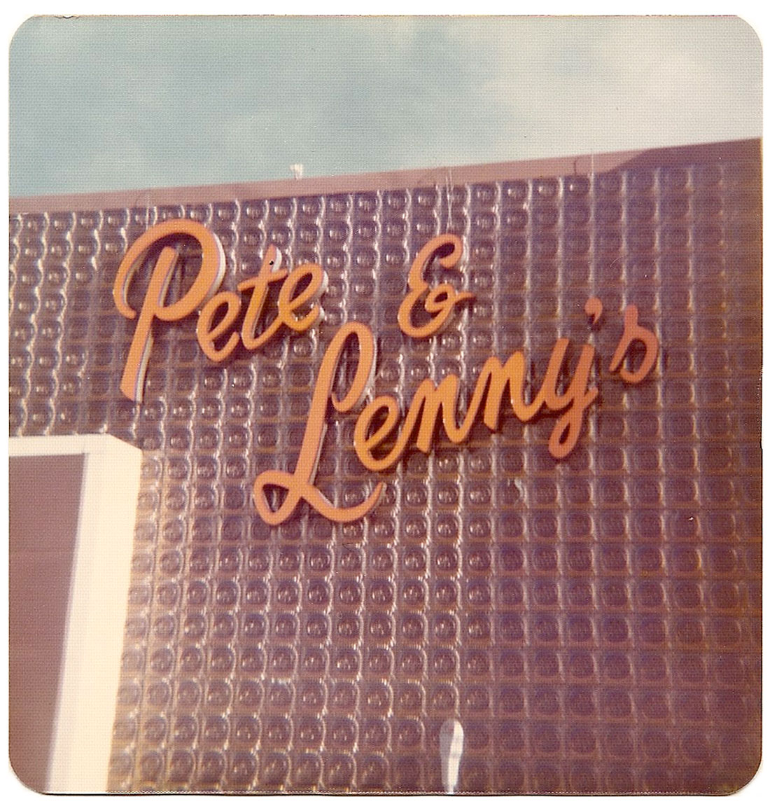 Pete & Lenny's sign