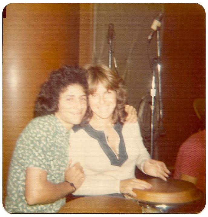 Carlos and Lina during the recording session