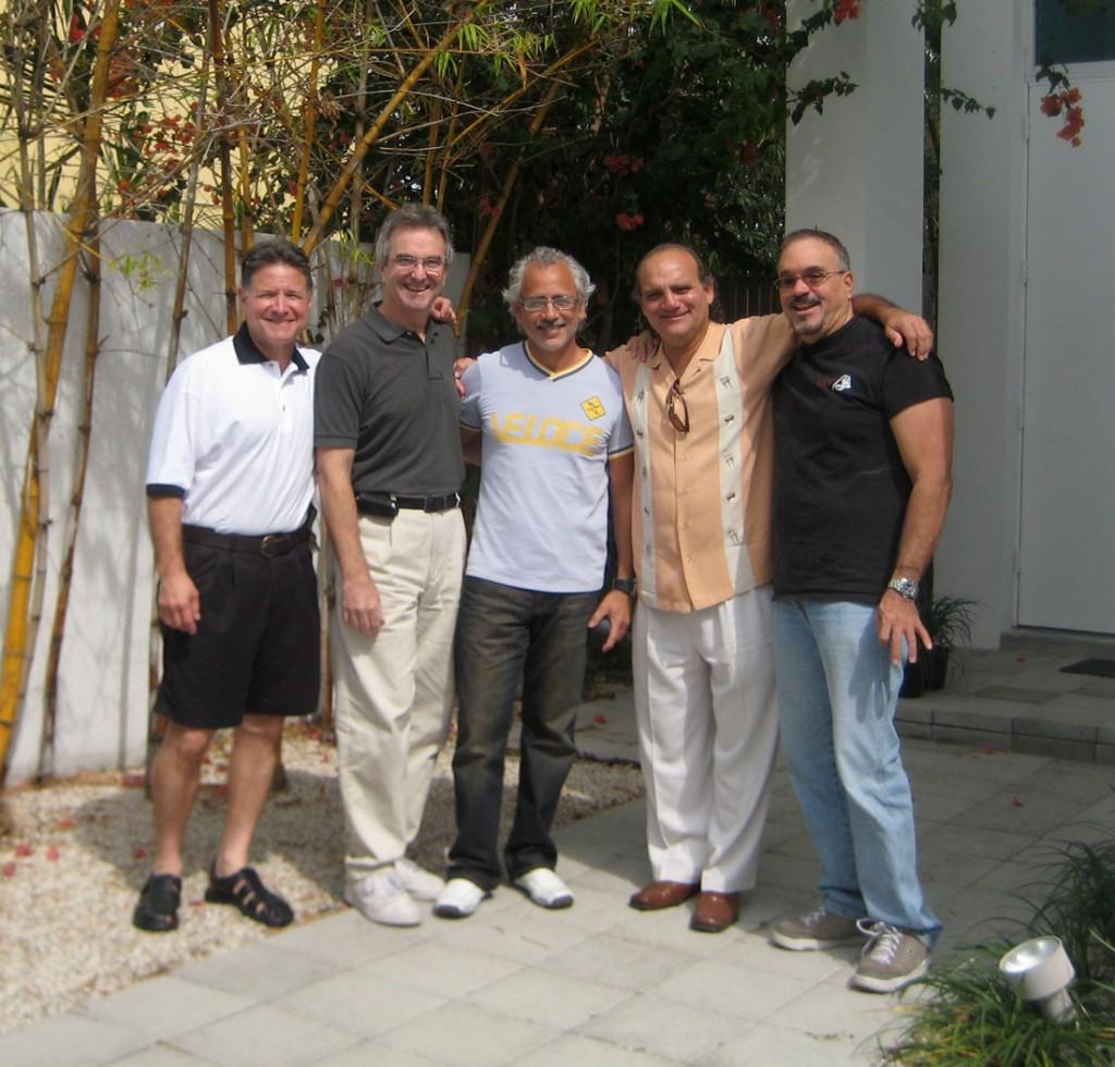 Alex Cobos, Frank Miret, Carlos Segura, Alfredo Perez and George Rionda
