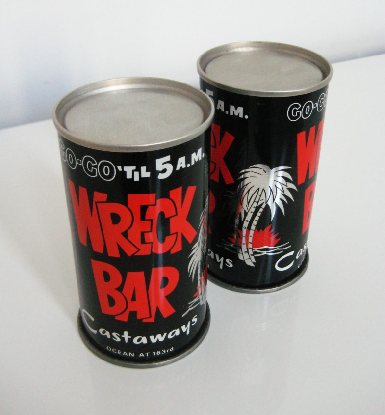The Castaways' Wreck Bar cans